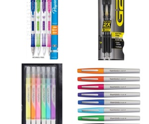 college, highschool, and pens image