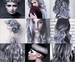 girls, gray, and hair image