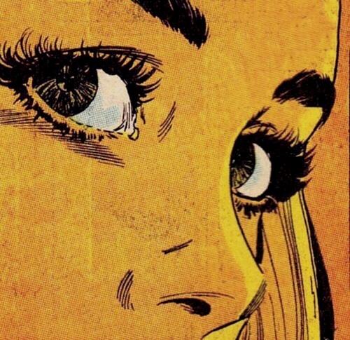 comic, eyes, and yellow image