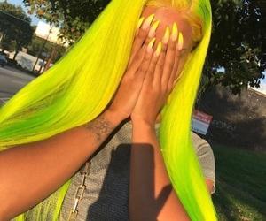 hair, neon, and nails image