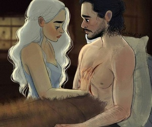game of thrones, love, and couple image