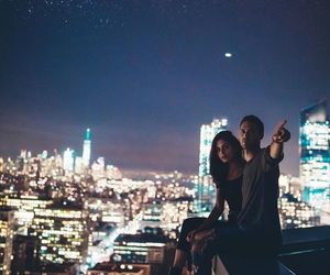 lighs, night, and love image