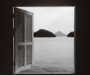 window, black and white, and view image