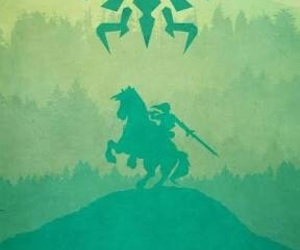 link, triforce, and green image