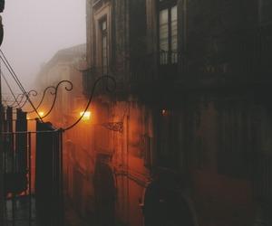 street, autumn, and dark image