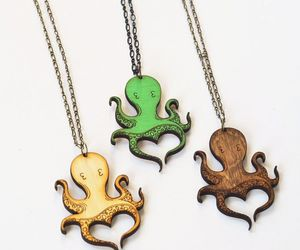 adorable, necklaces, and octopus image