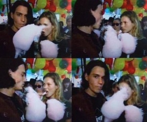 johnny depp, kate moss, and love image