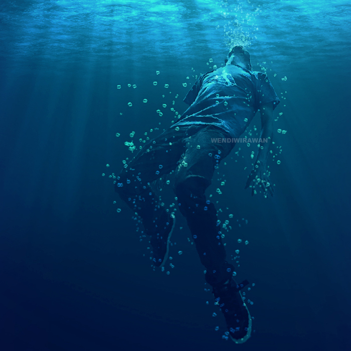 drown, man, and water image