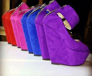 shoes, fashion, and purple image