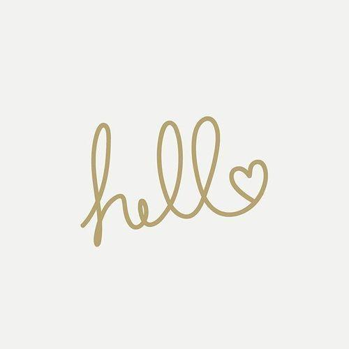 hello and minimalist image