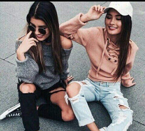 friends, tumblr, and outfit image