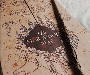 harry potter, marauders map, and aesthetic image