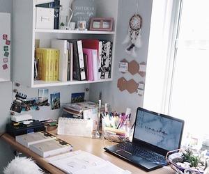 study, desk, and school image