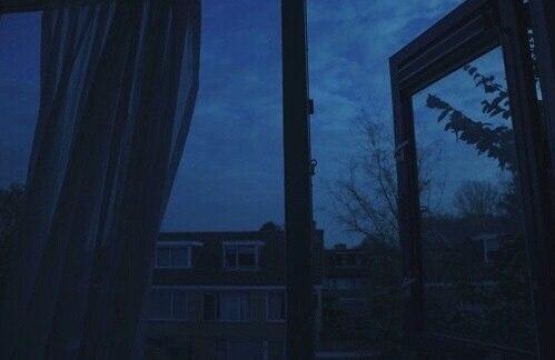 window, dark, and sky image