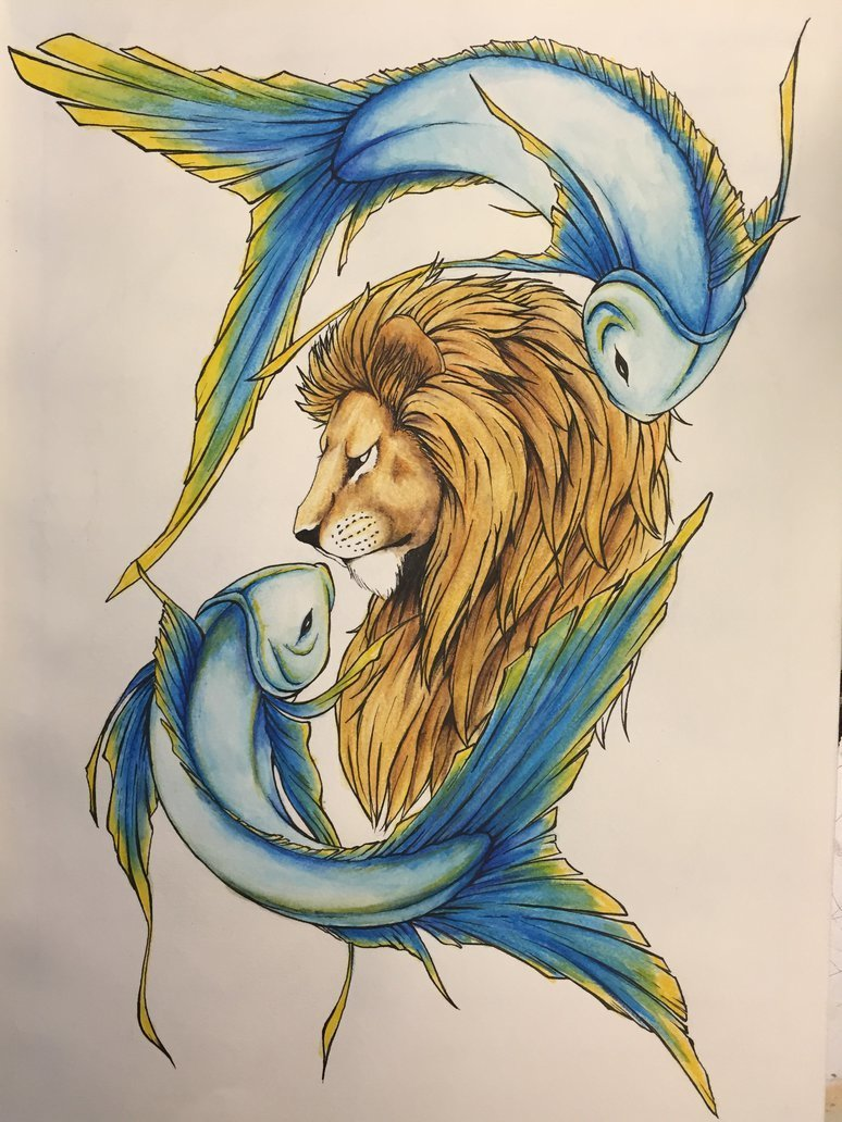 Leo, pisces, and zodiac image