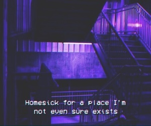 quotes, homesick, and purple image