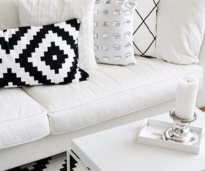 black and white, decor, and decoration image