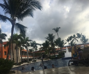 Dominican Republic, palm trees, and pool image