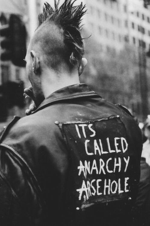 anarchy, punk, and black and white image
