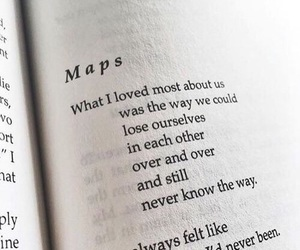 love, maps, and quotes image
