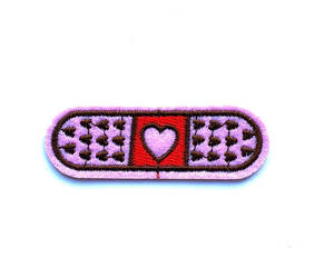 patch, iron on patch, and pink image