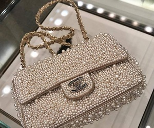 chanel, luxurious, and pearls image