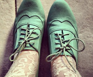 brogues, lace, and mint image