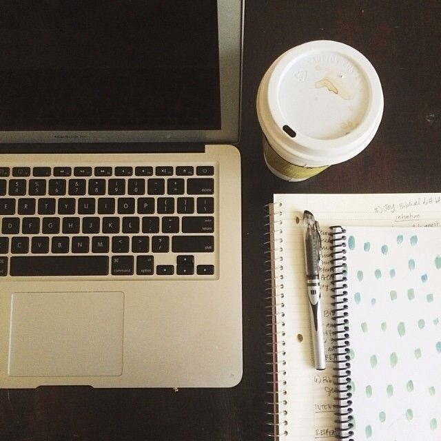 study, tumblr, and coffee image