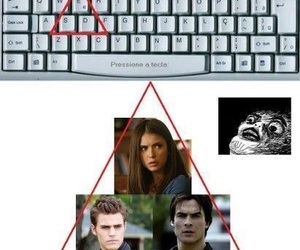elena, stefan, and damon image
