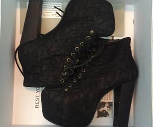 background, black, and heels image