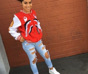 bape, outfit, and ripped jeans image