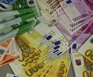 bills, currency, and money image