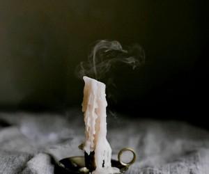 candle, smoke, and aesthetic image