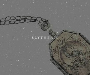 slytherin, harry potter, and locket image