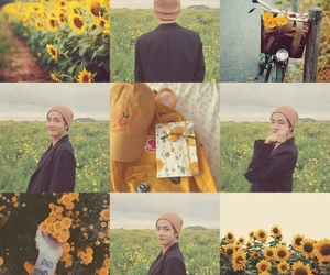 kim, moodboard, and sunflower image