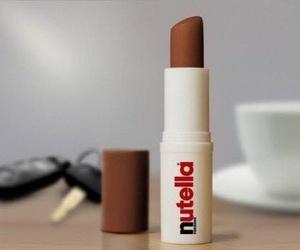 nutella, lipstick, and chocolate image