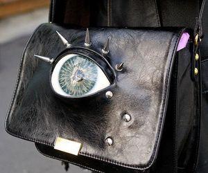 bag, eye, and black image