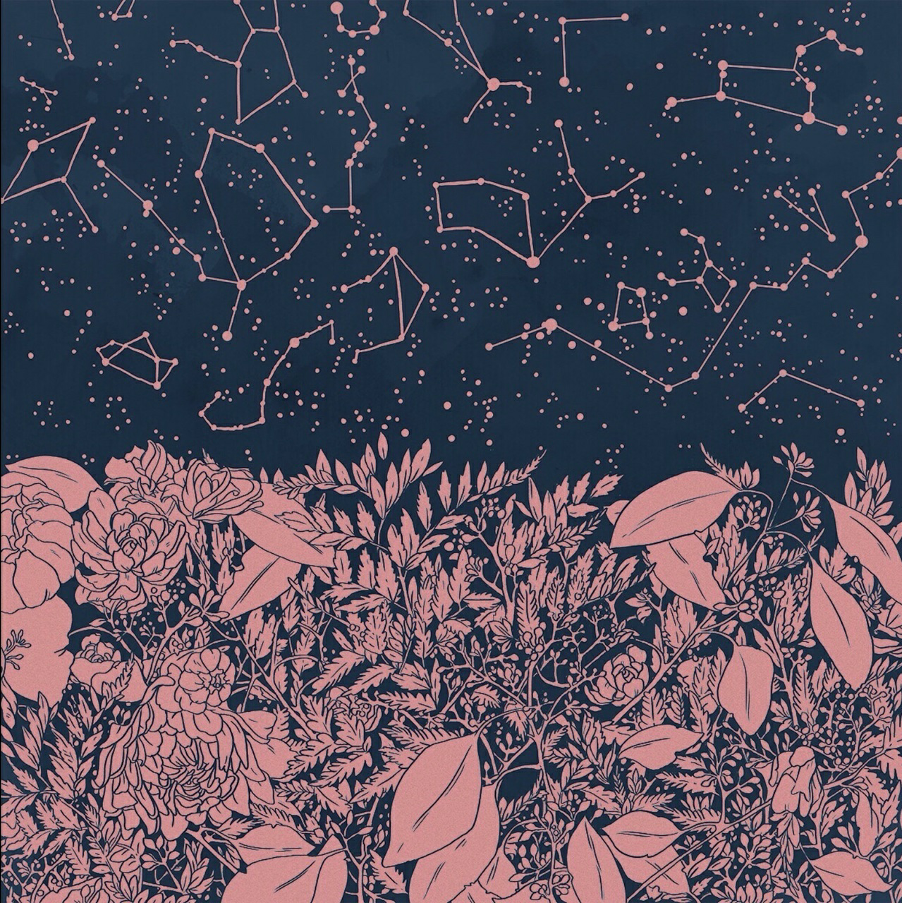 stars, art, and pink image
