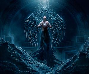 angel, women, and demon image