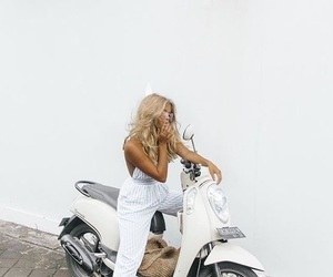 aesthetic, blonde, and scooter image