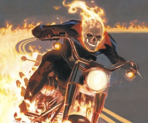 art, flames, and Marvel image