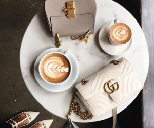 coffee, fashion, and gucci image