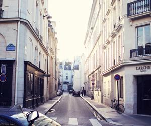 city, street, and paris image