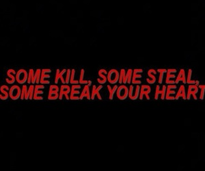 black, red, and quotes image