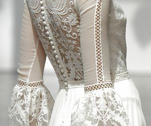 details, white, and dress image