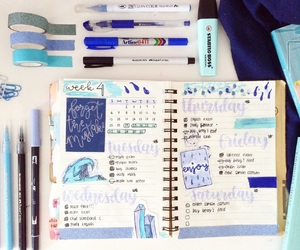 aesthetic, blue, and journal image