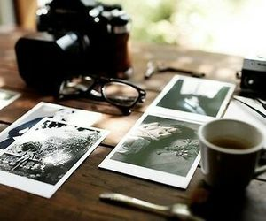 camera, photography, and coffee image