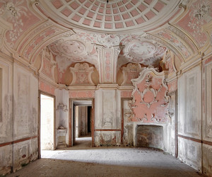 pink, abandoned, and architecture image