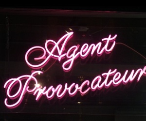agent provocateur, lingerie, and neon image