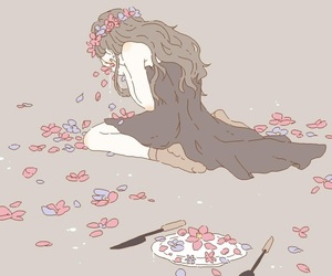 aesthetic, flowers, and illustration image